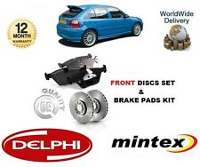 FOR ROVER MG ZR 105 1.6 2.0 TD  2001-2007 FRONT BRAKE DISCS SET + DISC PADS KIT