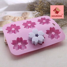 Sakura Flowers Silicone Muffin Cups Handmade Soap Molds Biscuit Baking Cake Pan