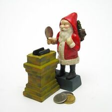 SP195 - Santa at the Chimney Collectors' Die Cast Iron Mechanical Coin Bank
