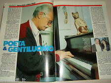 GINO PAOLI clipping articolo fotografia photo 1992 AS66 POETA GENTILUOMO