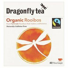 Dragonfly Tea Organic Rooibos 40 Tea Bags *Fairtrade, Caffeine Free*