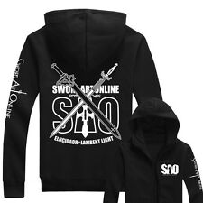 Anime Sword Art Online SAO Hoodie Hooded Sweatshirt Cotton Hoody Cosplay Coat