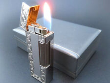 VERY RARE!! ALFRED Dunhill Rollagas Lighter Silver Plated with Box [674]