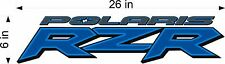 RZR POLARIS Logo vinyl decal BLUE ATV, UTV, vehicle, window sticker graphics
