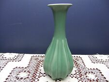 Red Wing Green Art Pottery Bud Vase Marked Red Wing USA 755