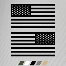 2 Subdued USA United States American Flag Sticker Decal Veteran Military