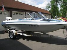 '86 Glastron 16' runabout, Johnson OB motor, trailer
