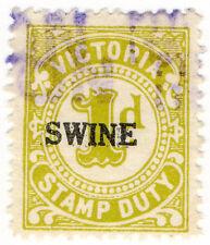 (I.B) Australia - Victoria Revenue : Swine Duty 1d (small format)