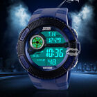 Infantry Army Pilot Sport Waterproof Unisex LED Analog Digital Wrist Watch Blue