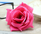 20 pcs 8cm Rose simulation flowers silk flower heads wedding wholesale rose red