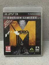 JEUX PS3 METRO LAST LIGHT EDITION LIMITEE AVEC NOTICE PLAYSTATION