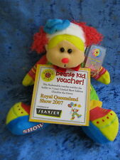 BEANIE KIDS - CHUCKLES THE CLOWN BEAR - 429C QUEENSLAND SHOW 2007 + VOUCHER QLD