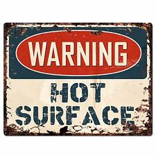 PP1042 WARNING HOT SURFACE Plate Rustic Chic Sign Home Store Decor Gift