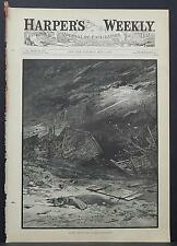 Harper's Weekly Cover-Page A4#17 May 1883 In the Path of the Cyclone