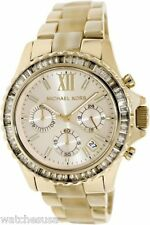 Michael Kors Everest Champagne Dial Gold-tone Horn Acetate Ladies Watch MK5874