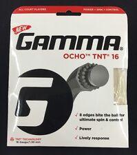Gamma Ocho TNT 16 String 8 Edges Bite 16 Gauge / 1.30 mm Tennis String - New