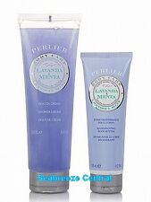 PERLIER LAVENDER MINT SHOWER CREAM & BODY BUTTER DUO - PRIORITY SHIP - SEALED!!