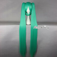 Vocaloid Hatsune Miku Green Straight Anime Cosplay Wig With Two Long Ponytails