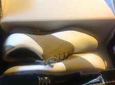 New in Box Women's size 9.5 Greenjoys Footjoy Golf Saddle Shoes, Black