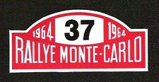 Rallye Monte Carlo 1964 Sticker, Vintage Sports Car Rally Racing, Mini Cooper