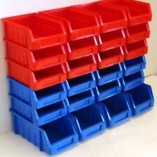 24 MIXED COLOURED PARTS STORAGE PICK BIN BINS BOX STACKING  FREE STANDING