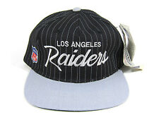 90S NWT VTG LOS ANGELES RAIDERS SPORTS SPECIALTIES SCRIPT SNAPBACK HAT NWA DRE