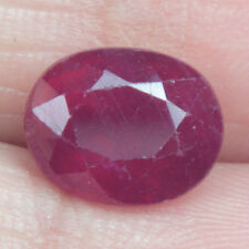 2.94 Ct ~ Natural Beautiful Glass Filled Madagascar Dark Blood Red Oval Cut Ruby