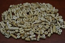 1000+ PCS ASSORT ROUND TUBE COFFEE BROWN BUFFALO BONE BEADING BEADS 2 LBS #T-493