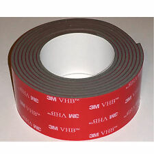 """3M 4991 VHB  Double Sided tape for GoPro mounts - 1"""" x 5 ft, 0.090"""" thick"""