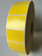 5000 Yellow Labels on roll - blank, sticky labels, 38mm x 25mm,Thermal Transfer