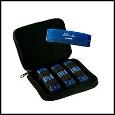 Hohner Blue Ice 3 Harmonica Pack in keys of C, D & G with Case - Loss Sale !