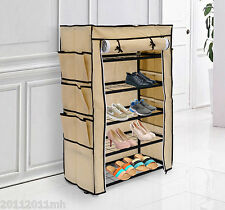 Portable 5 Layer Shoe Rack Shelf Storage Closet Organizer Cabinet