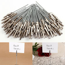 100X DIY Craft Name Card Photo Clip Wire Desk Table Holder Memo Note Clamp Part