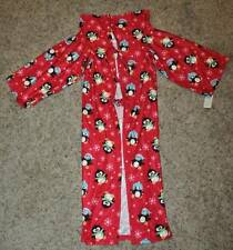 NWT $24-Girls Red Penguin Wrappie Wearable Blanket with Sleeves for ages 3-6