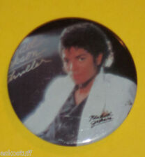 Michael Jackson Thriller Picture With Signature Pinback Button! See!