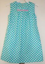 Brand New Kelly's Kids Pool Green / White Dot Mary Dress Girl's Size 6-7 yr.