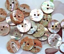 36pcs Mother of Pearl Button Round Abalone Sea-ear Shell 15mm