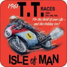 Panneau Métallique Co Mélamine Dessous de verre île de Man courses TT Vintage