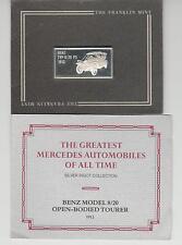 Mercedes silver ingot collection Benz Model 8/20 Tourer  Franklin Mint 1985