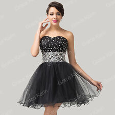 Plus Size Beaded Short Evening Prom Party Homecoming Wedding Bridesmaid Dresses