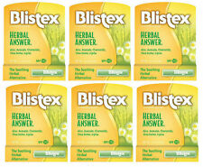 6 PACK Blistex Lip Balm Herbal Answer SPF 15 0.15oz 041388850009