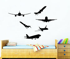 Wall Decals Kids Airplanes Plane Decal Vinyl Sticker Boy Nursery Decor Chu553