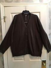 NWT Eskandar Sz 1 1x Brown Mercerized Cotton Ribbon B/D  Cardigan Sweater $1175