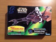 Star Wars POTF Speeder Bike With Scout Trooper NIB Sealed #60588