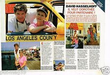 Coupure de Presse Clipping 1994 (2 pages) David Hasselhoff et Dorothée