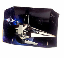 "Star Wars Clone Wars Black V WING FIGHTER ship vehicle for 3.75"" figures RARE"