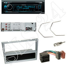 Kenwood KDC300UV CD/USB Radio Opel Vivaro Combo Blende matt-chrom + ISO Adapter