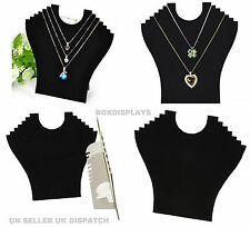 Black Velvet Necklace Pendant Jewellery Display Stand Bust Show Case Holder