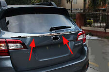 Rear Window Upper Molding Cover Trim for 2015 2016 Subaru Outback Chrome ABS
