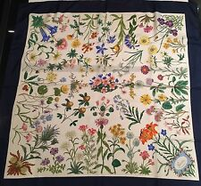 Rare Vintage GUCCI Flora Silk Scarf V. ACCORNERO Wild Flowers Made in Italy
